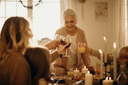 woman doing cheers