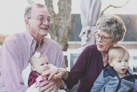 holding grandpartents