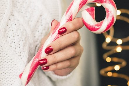 holding candy cane