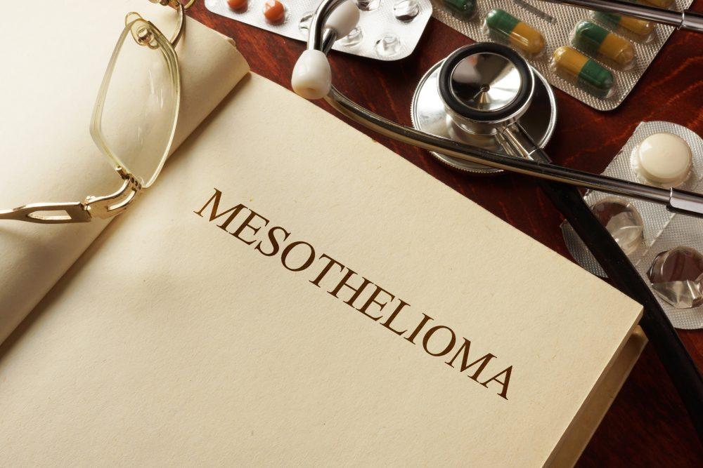 Book with diagnosis Mesothelioma
