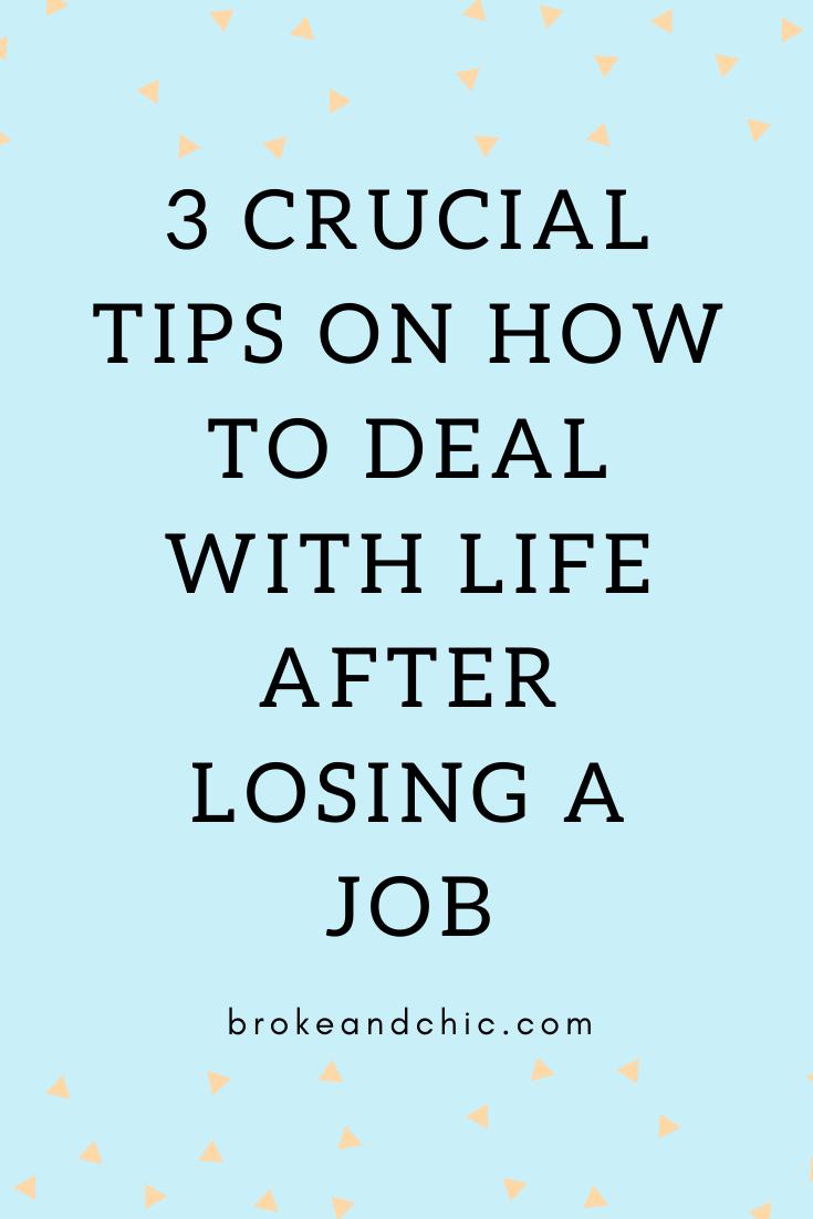 losing a job graphic