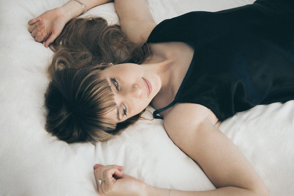 woman wearing nightgown