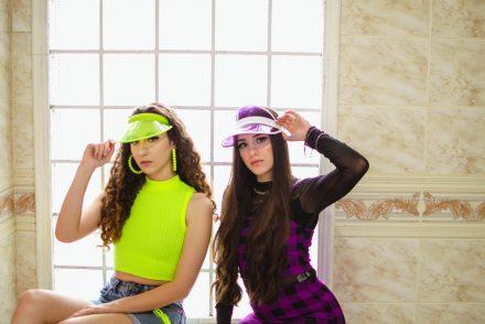 Girls wearing neon