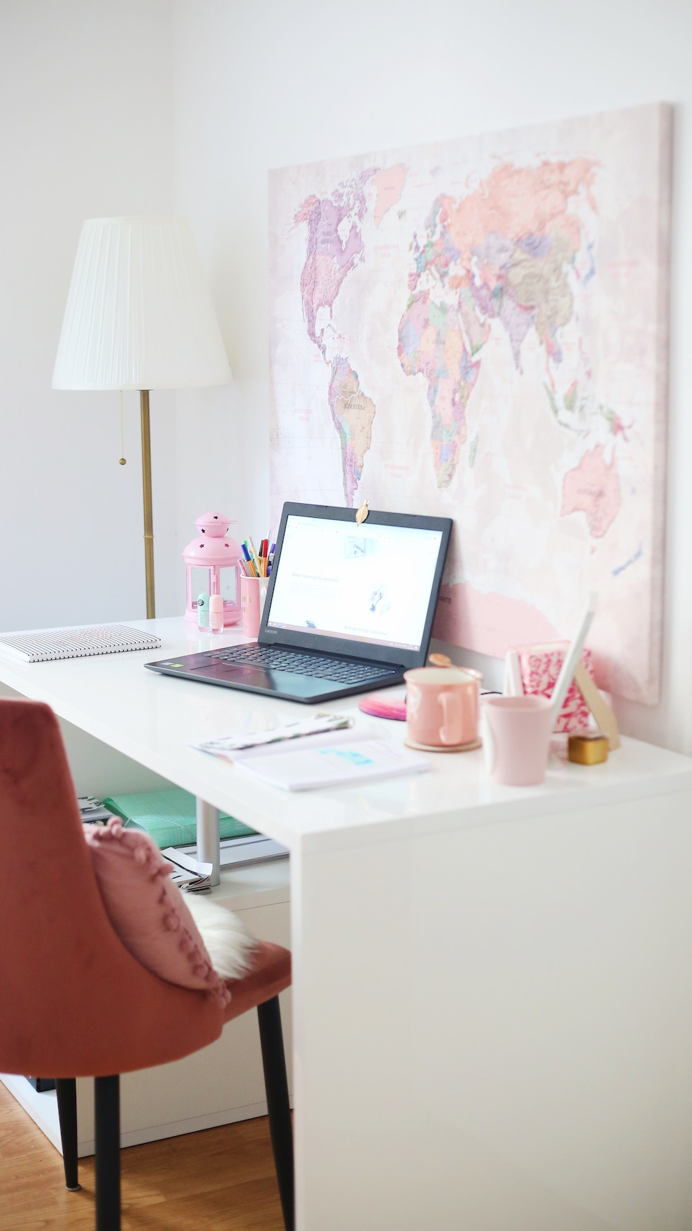 feminine home office