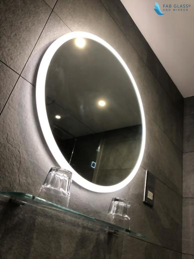 led mirror in bathroom