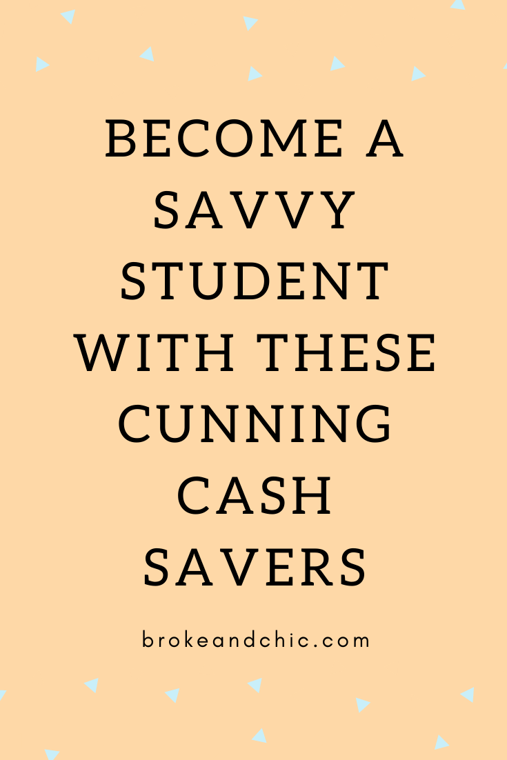 cash savers for college students