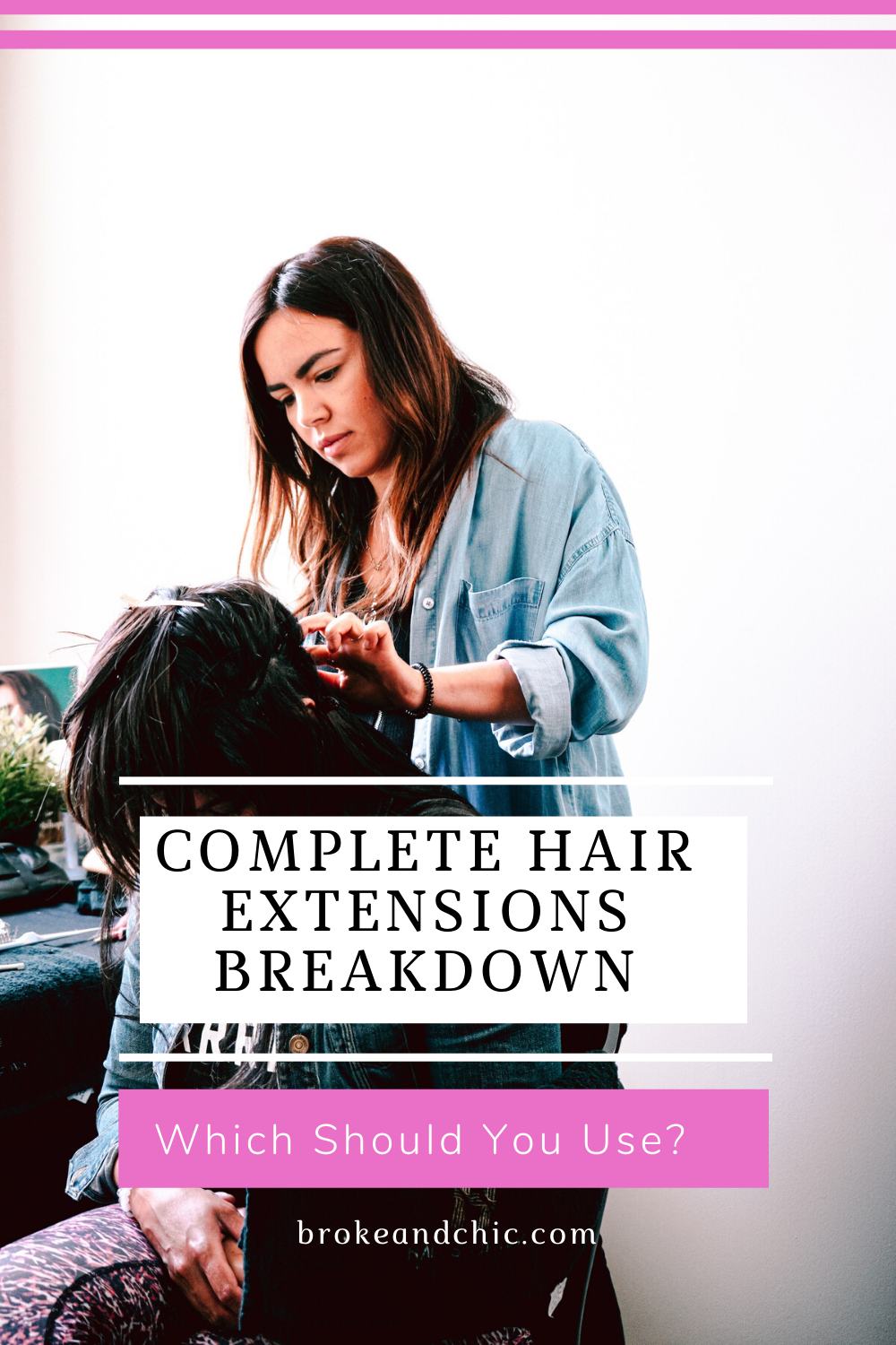 different kinds of hair extensions