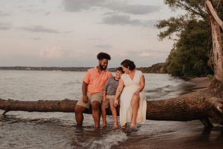 Family photo on beach