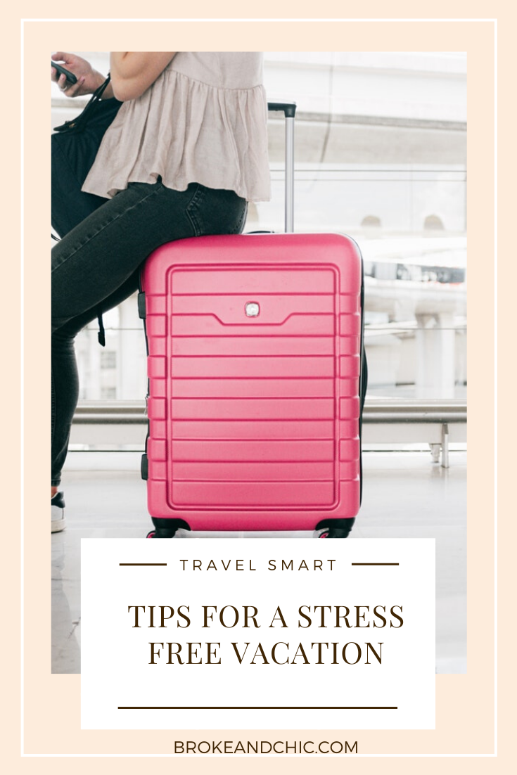 stress free vacation tips