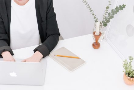 woman writing a cover letter