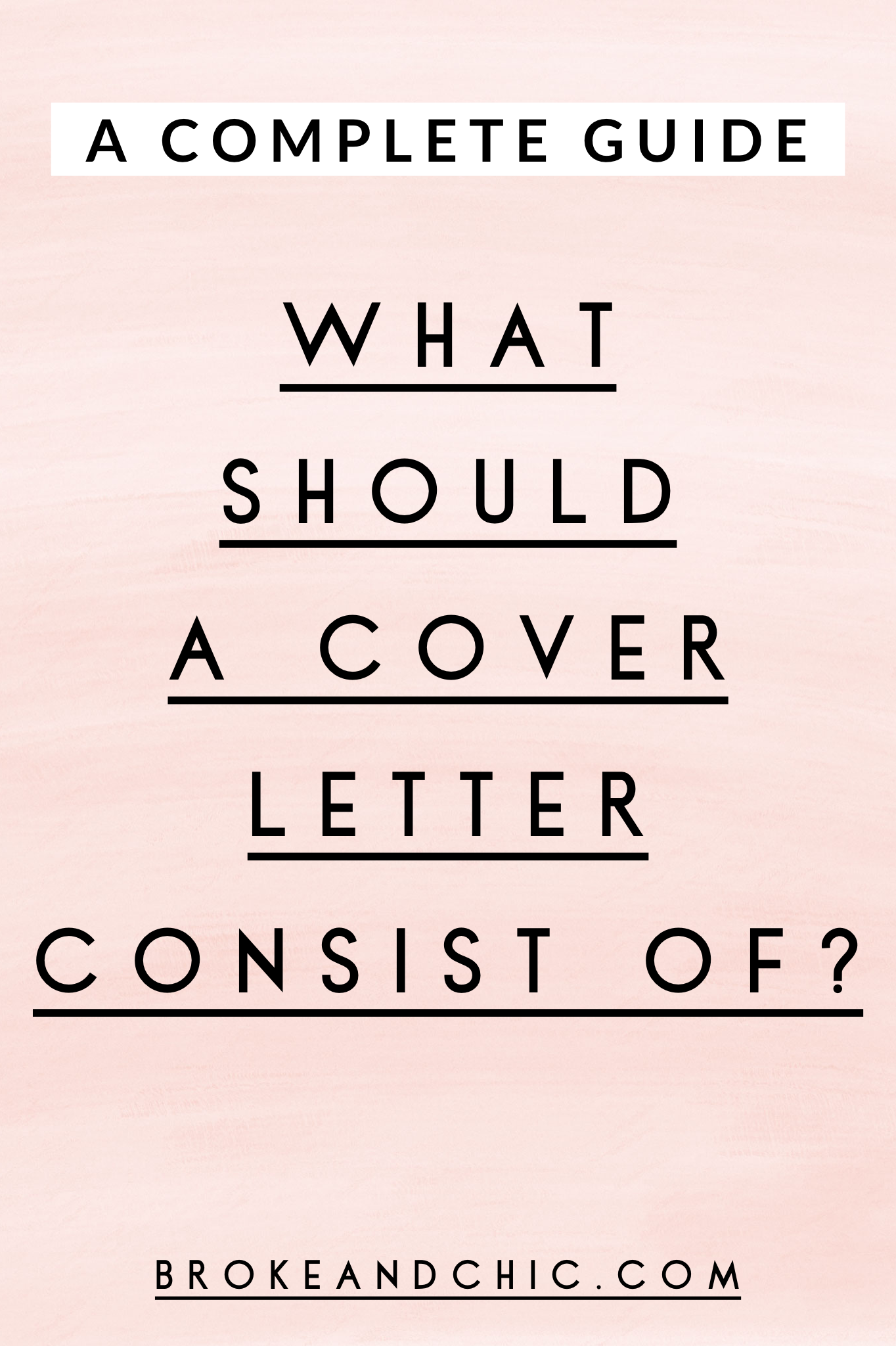 What Should a Cover Letter Consist Of?