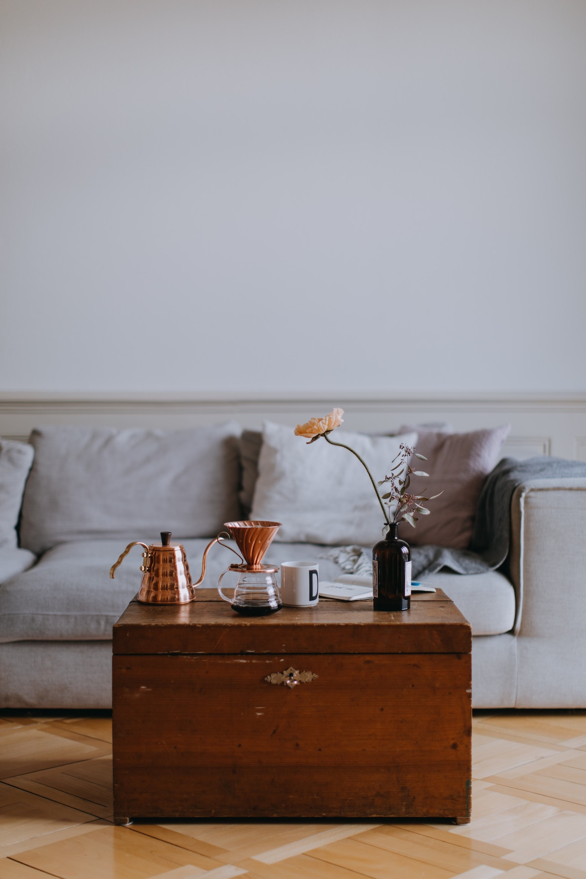 thrifted coffee table
