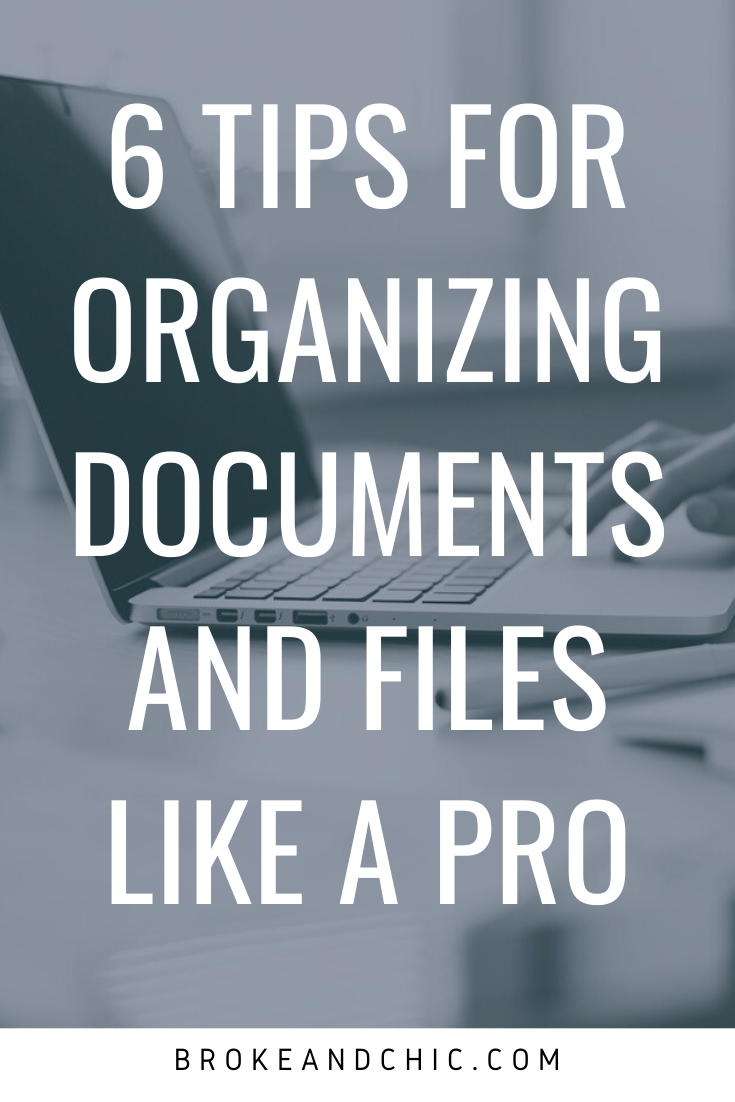 6 Tips for Organizing Documents and Files Like a Pro