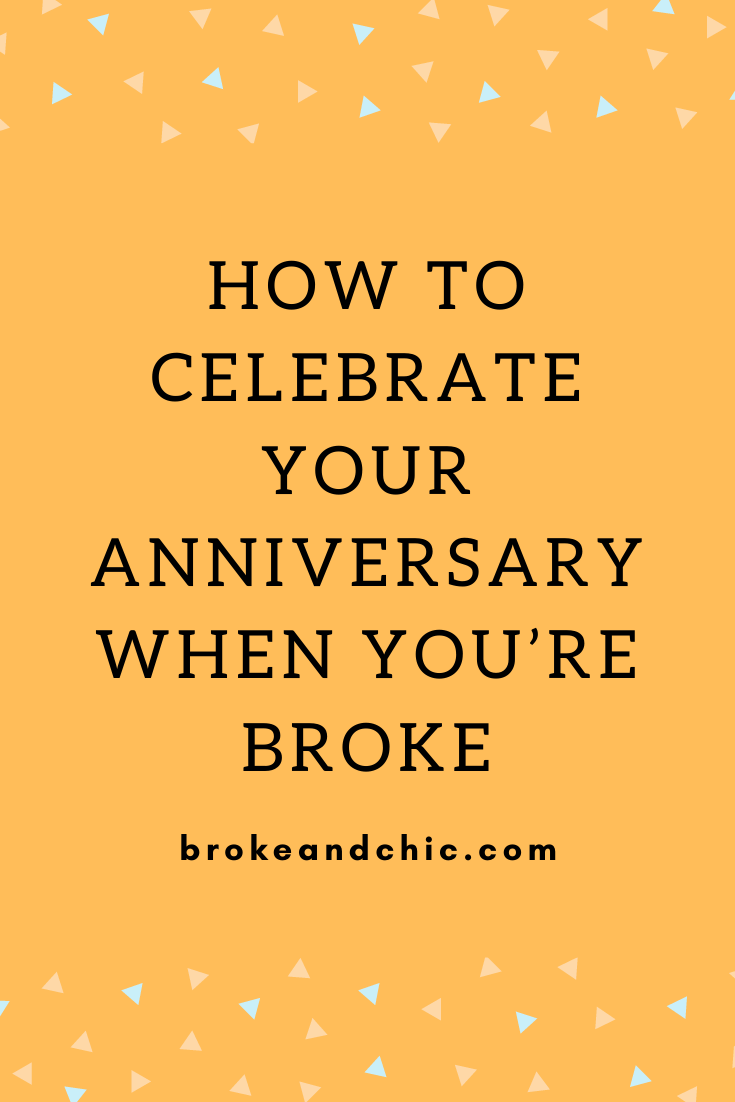 How to Celebrate Your Anniversary When You're Broke