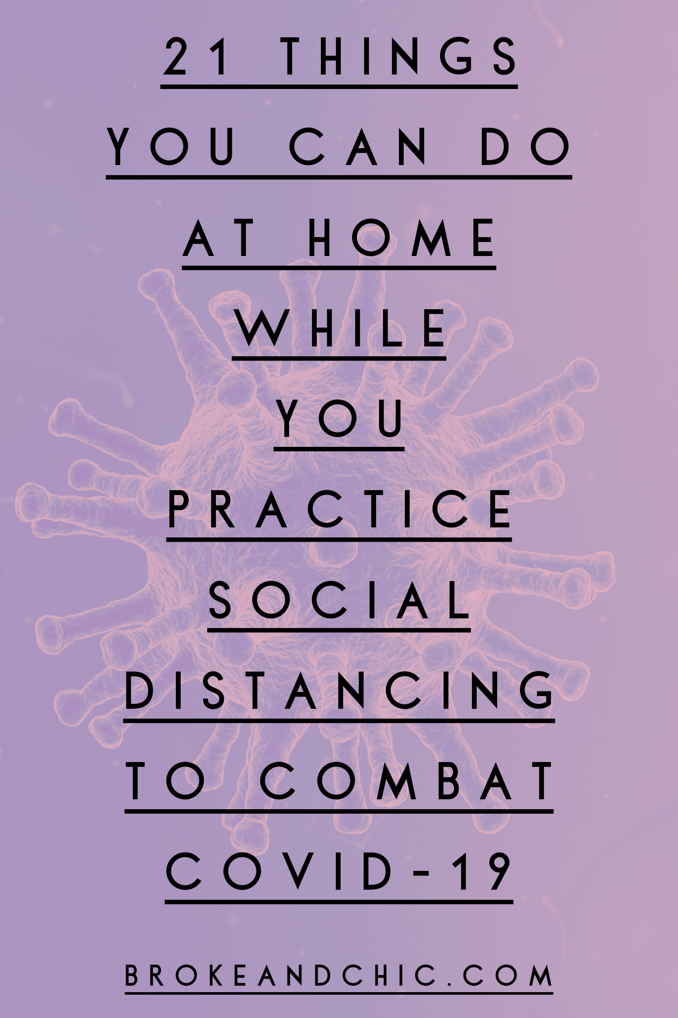 Things to do at home during social distancing