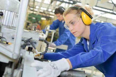 Manufacturing Engineer Working