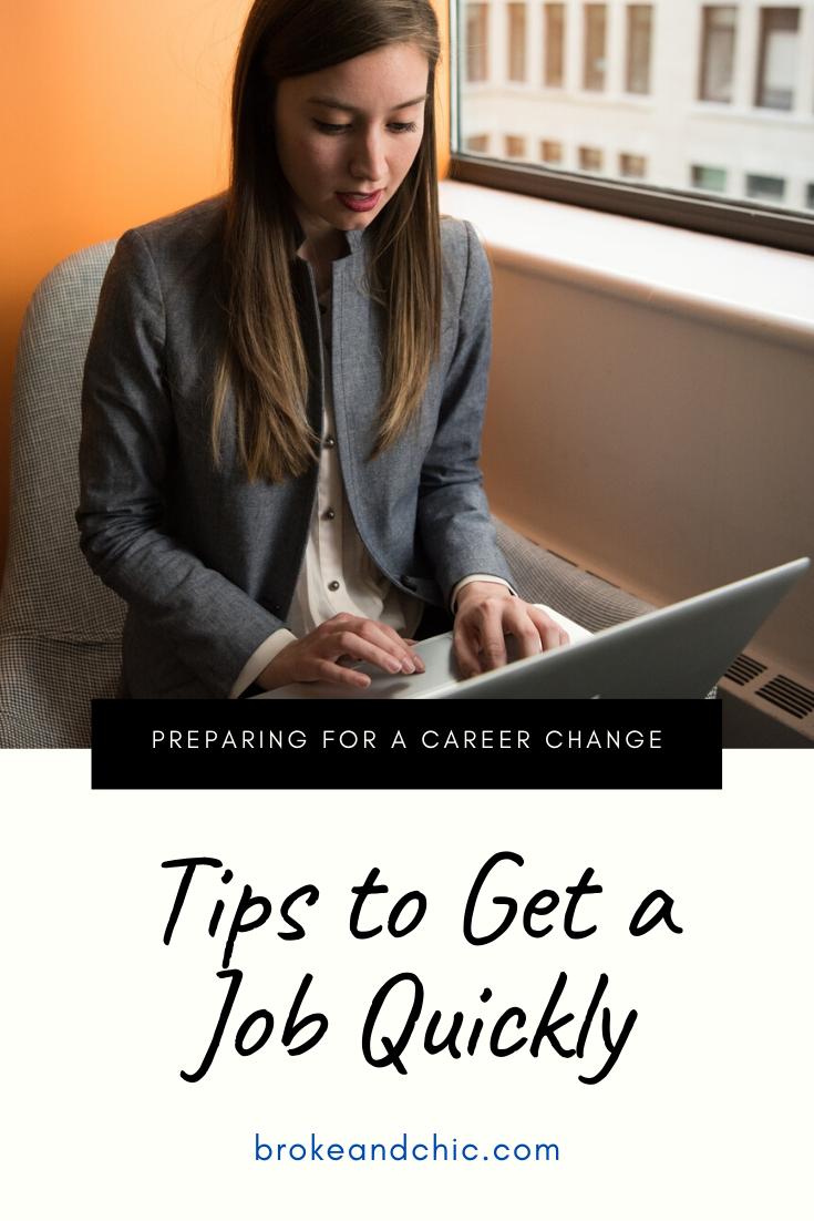 get a job quickly