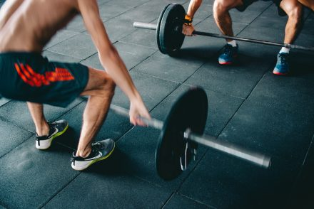 men lifting