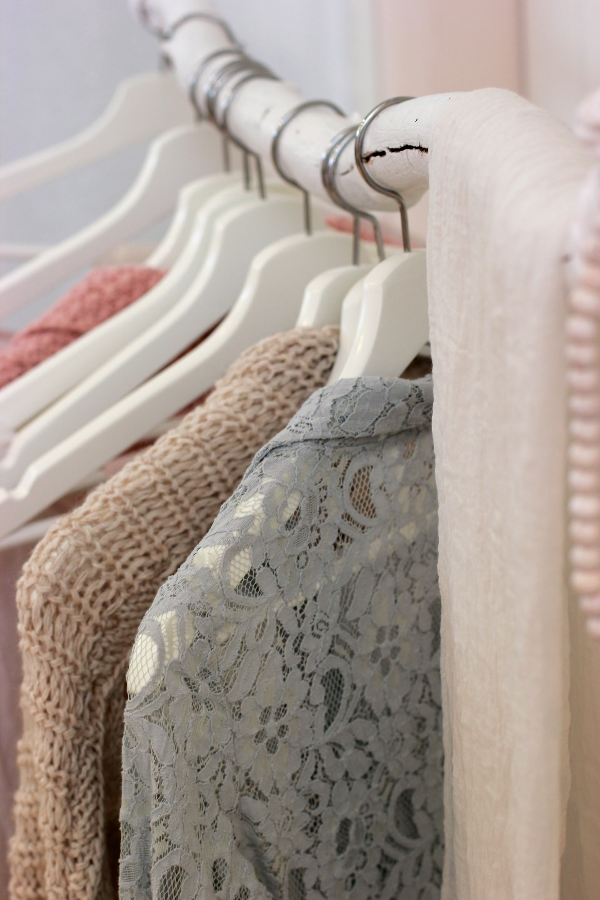 closet with pastel colors