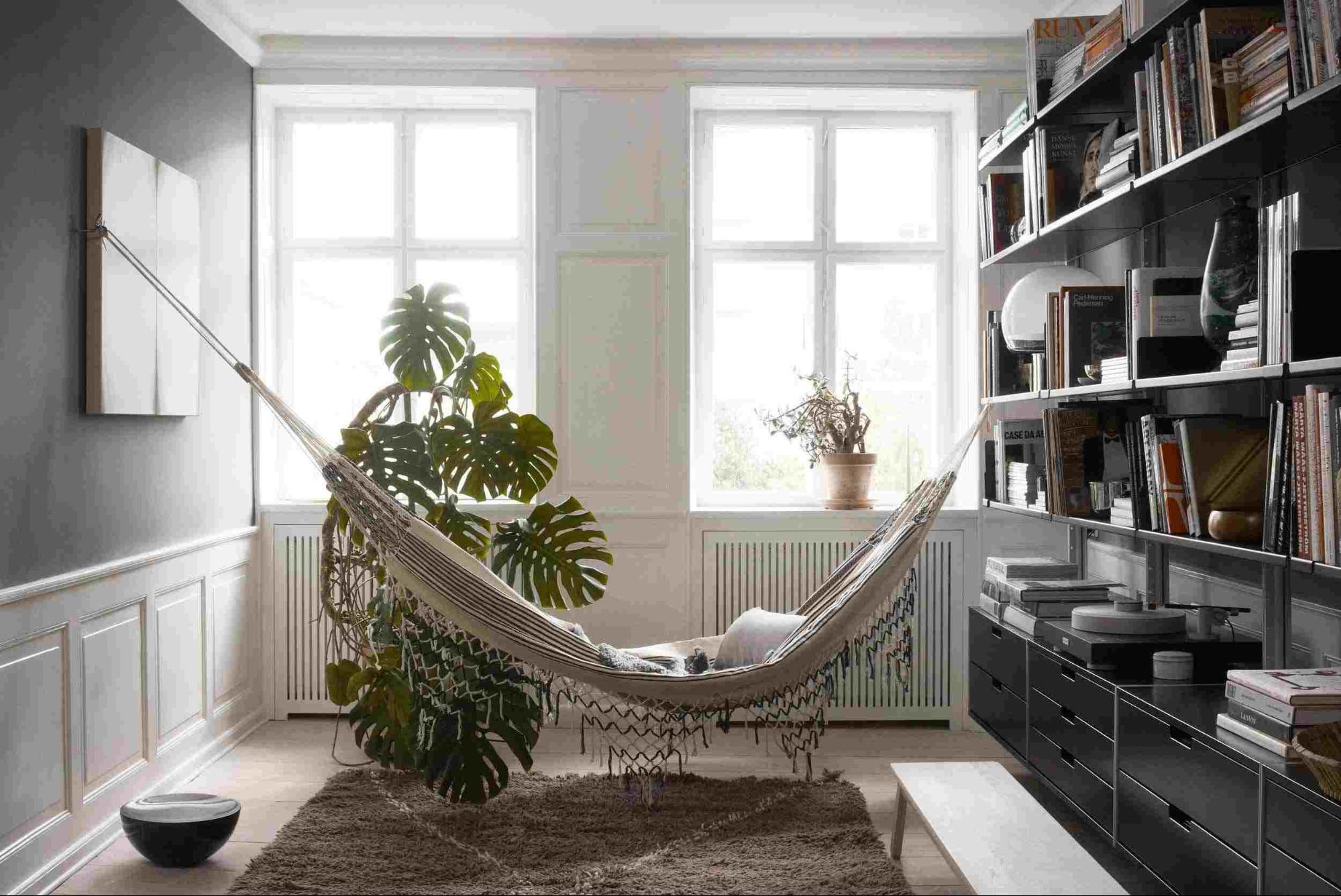 hammock in living room