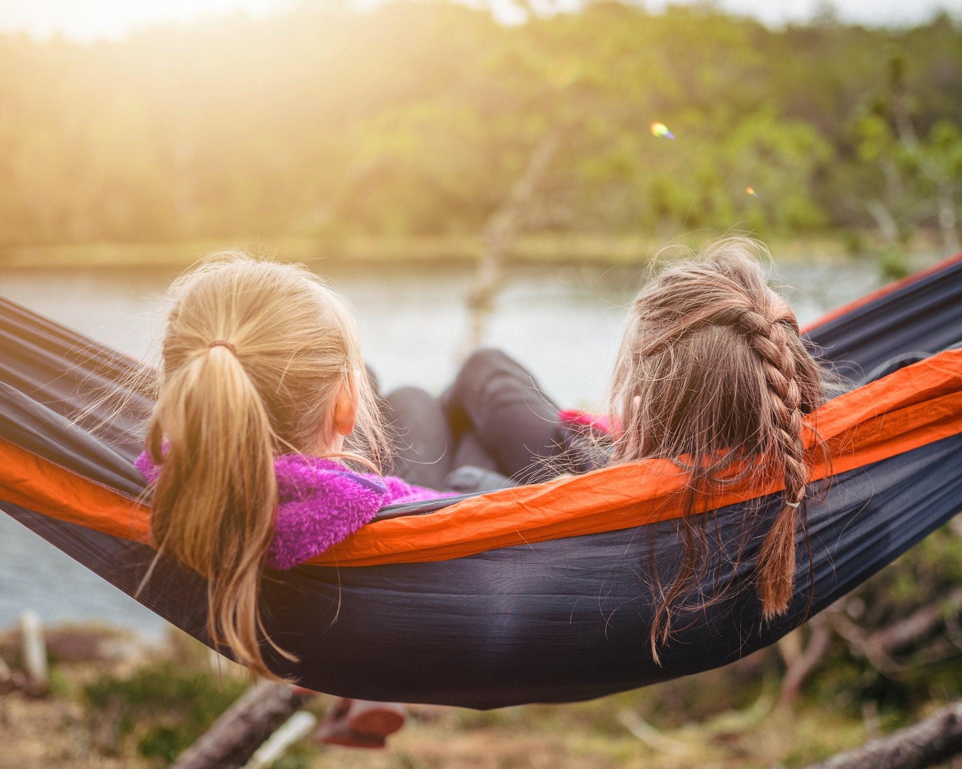 kids using a hammock