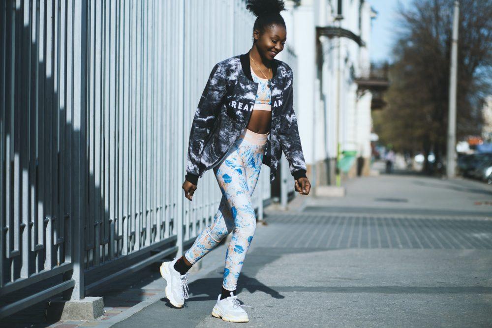 Woman wearing athleisure