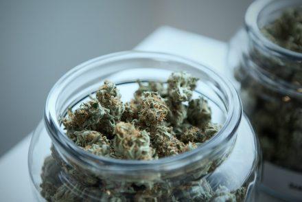 weed in a jar