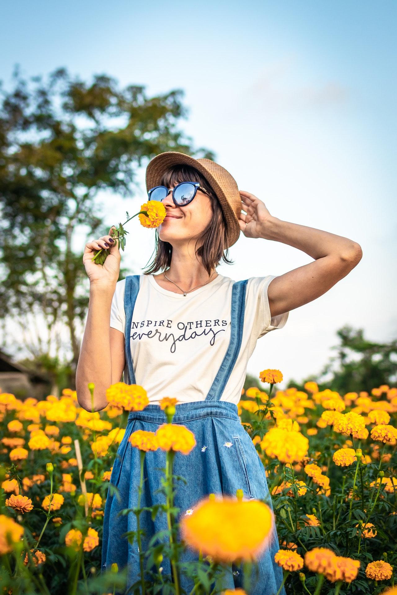 Smelling marigolds