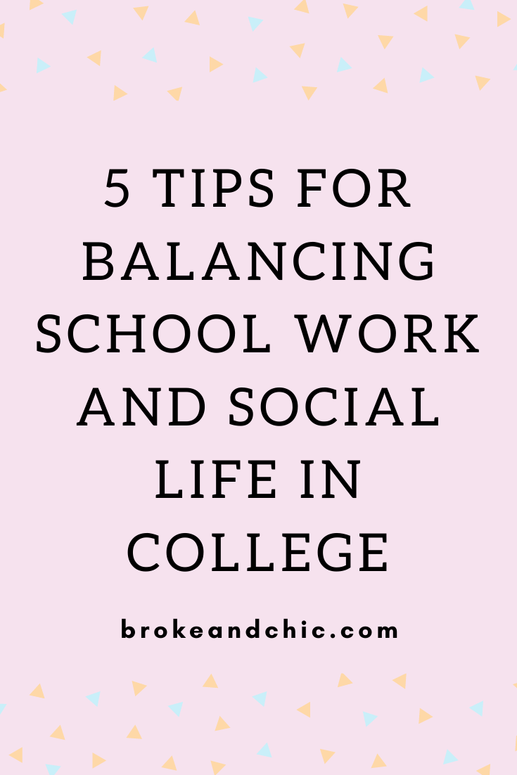 how to balance studying and social life