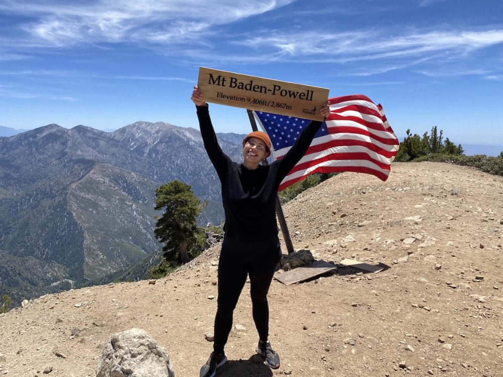 hiking Mount Baden-Powell Trail