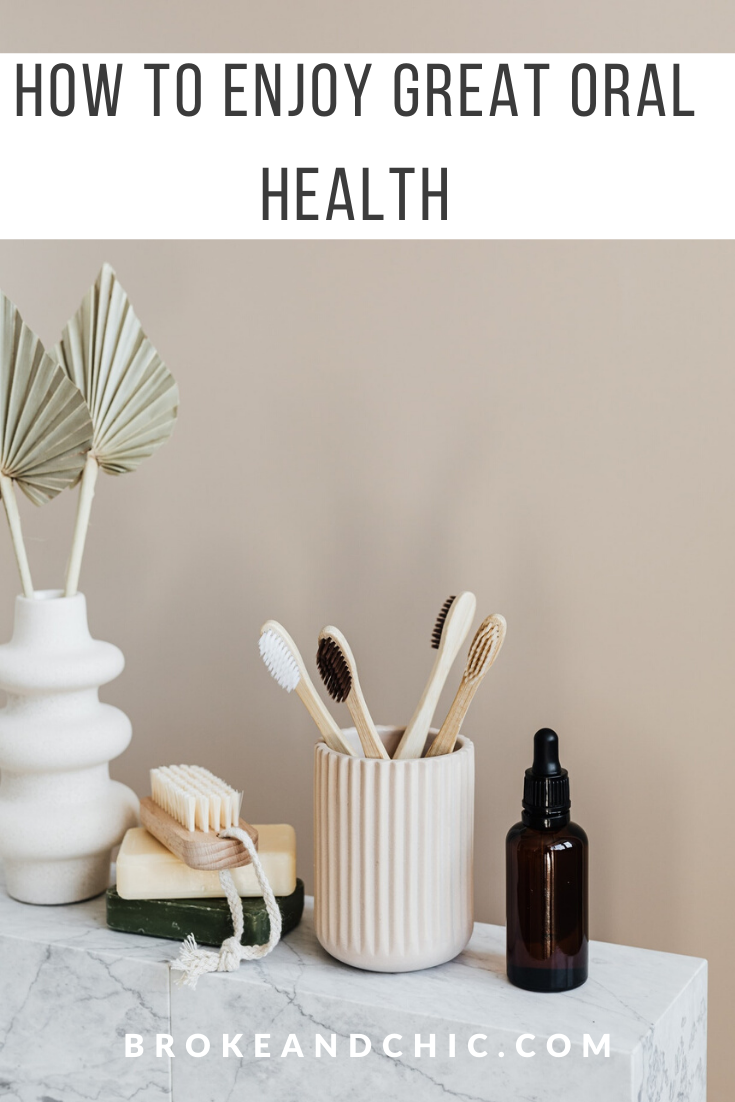 neutral bathroom with bamboo toothbrush