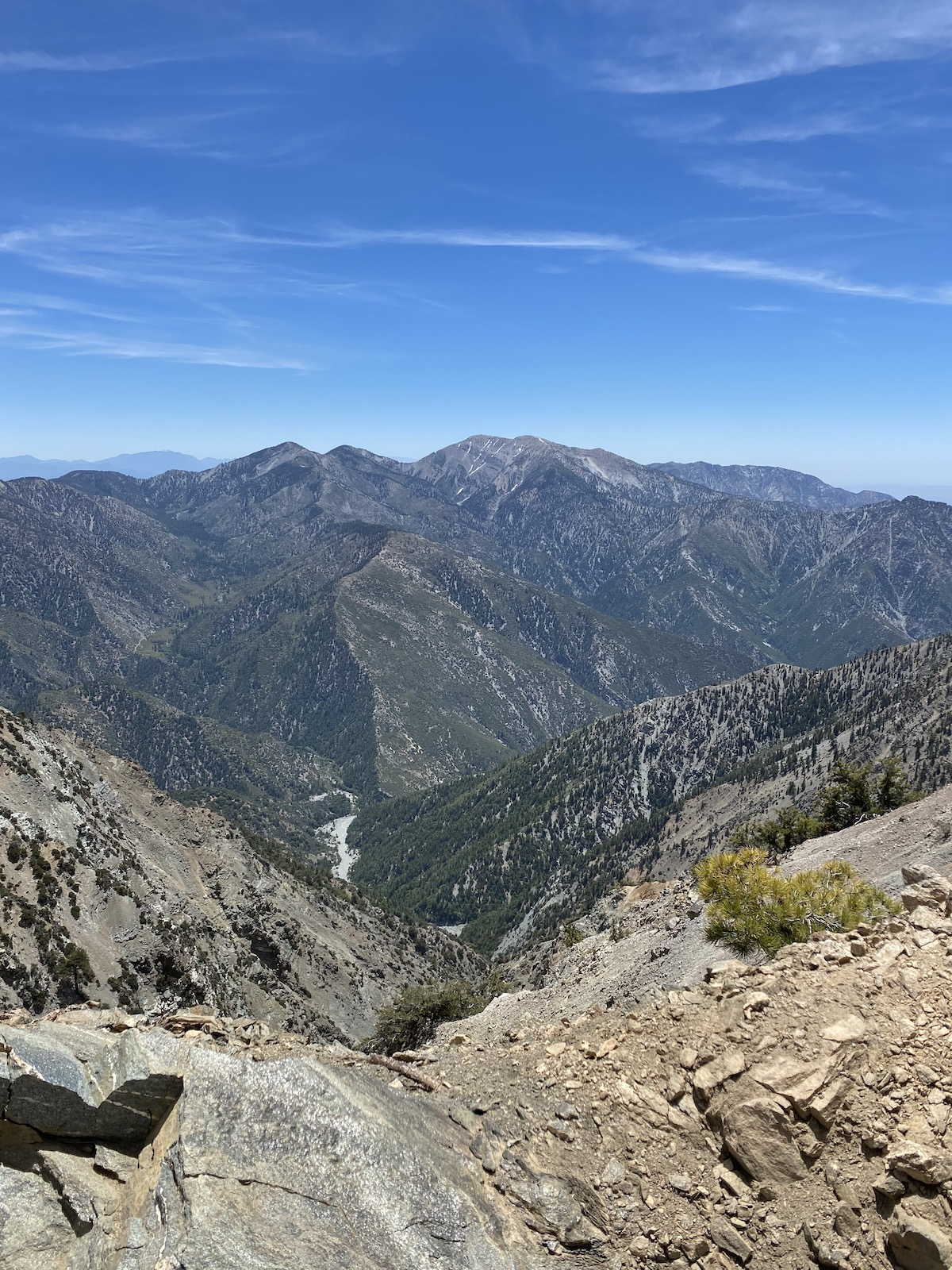 View from the summit of Mount Baden-Powell Trail