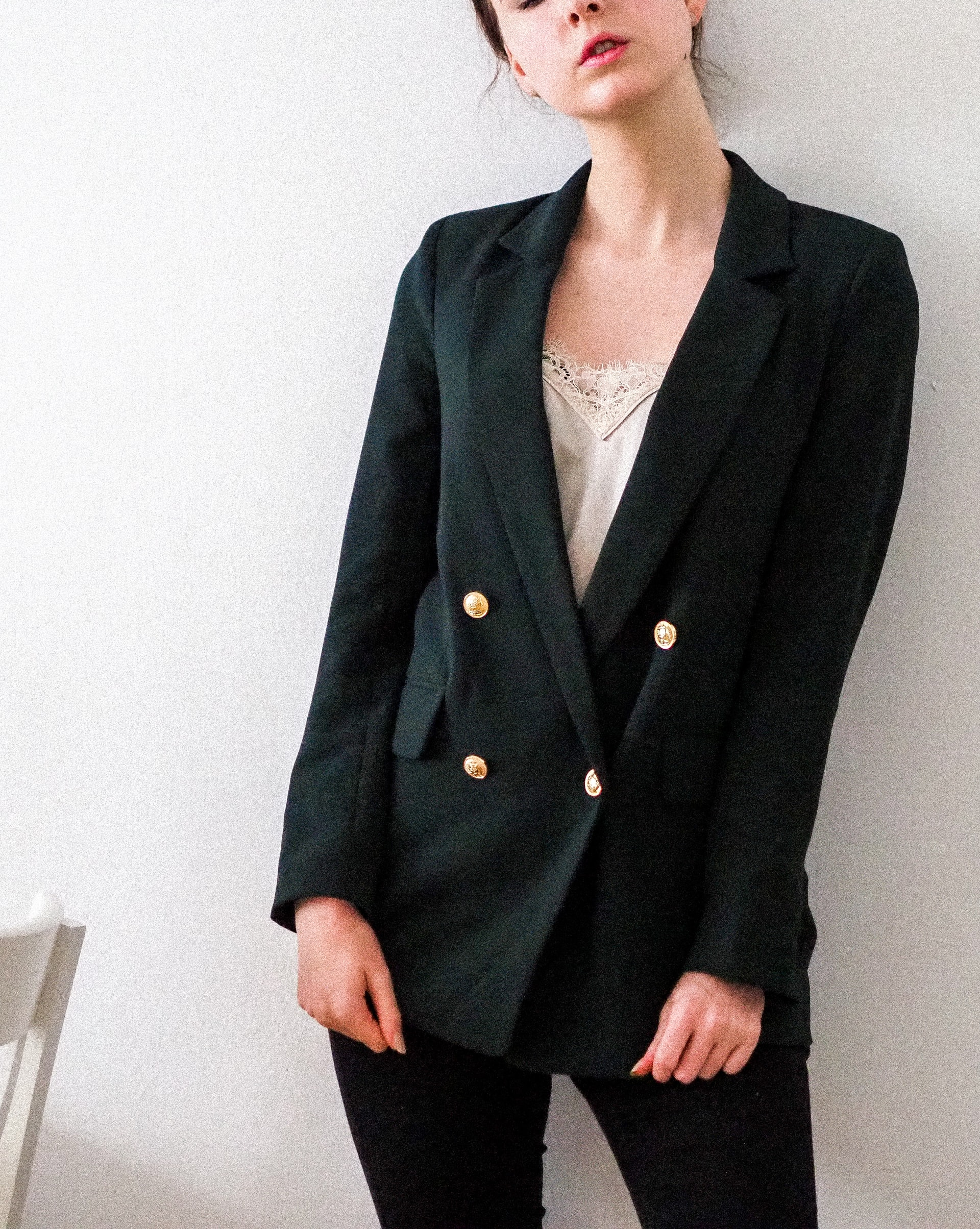 woman wearing black blazer
