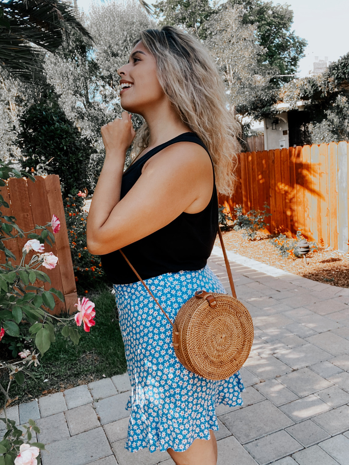 affordable wicker purse