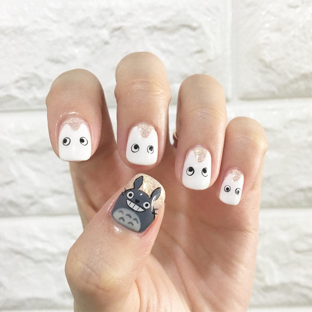 studio ghibli nail art