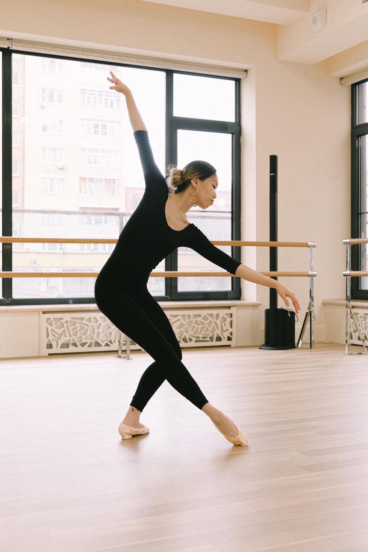 Asian woman doing ballet