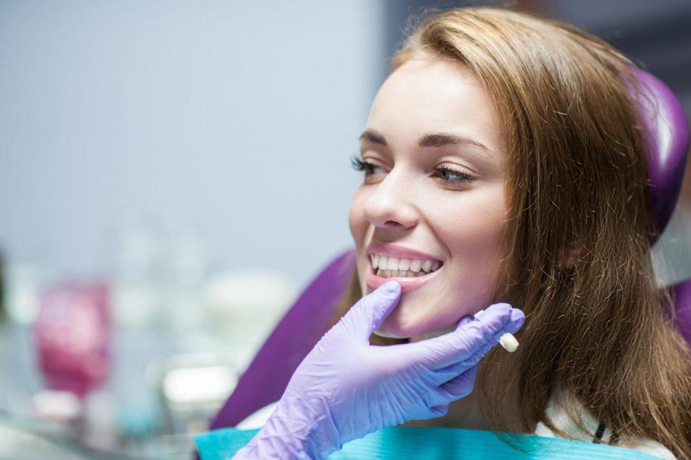 woman at dentist