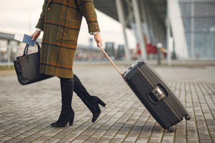 woman with luggage