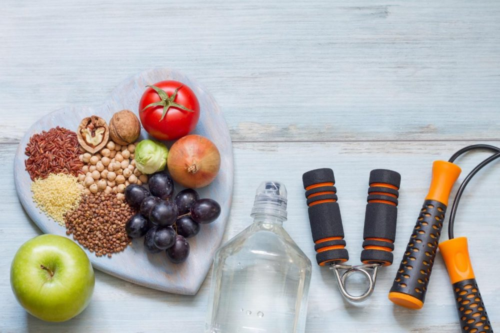 healthy food laid out