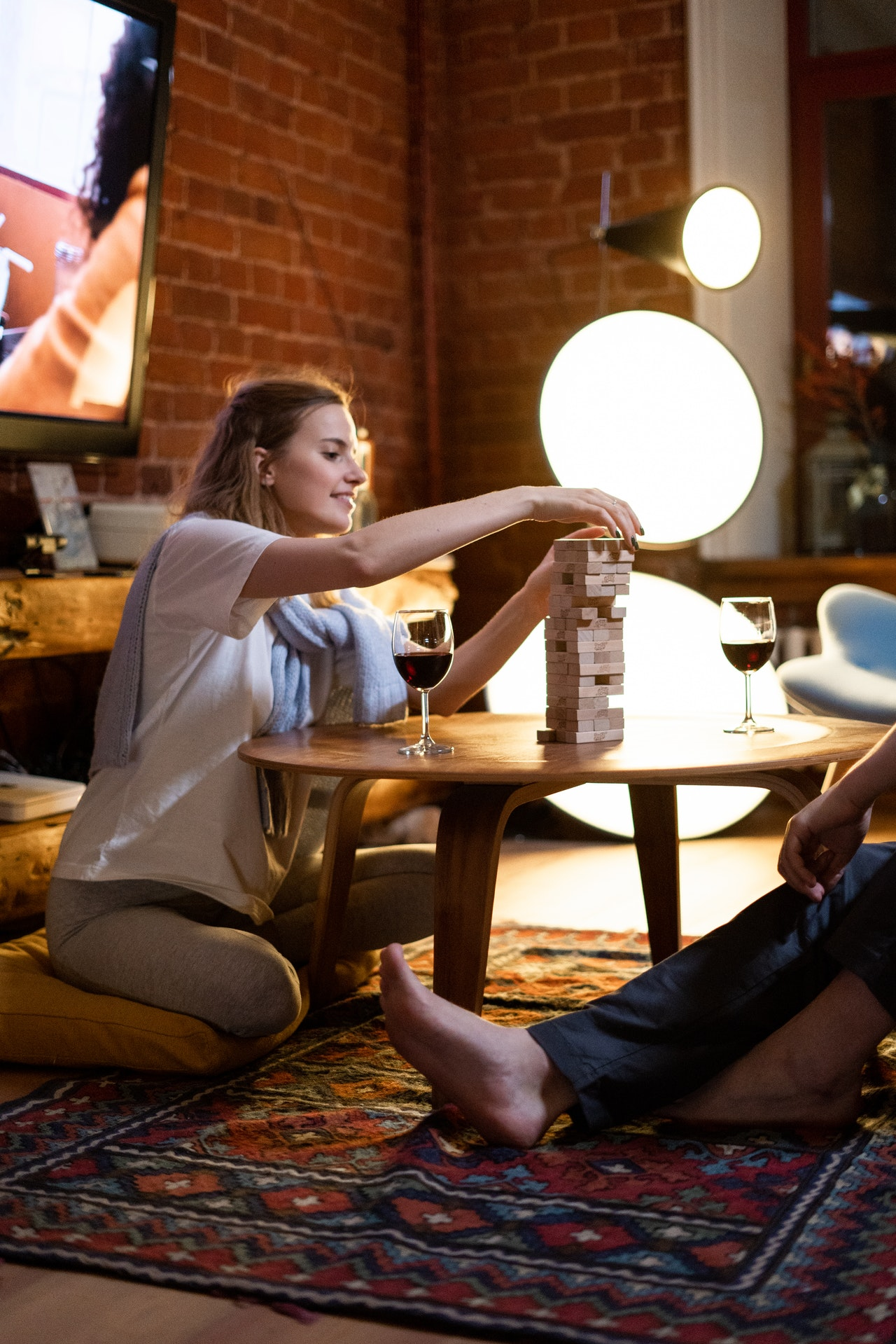 couple playing board games