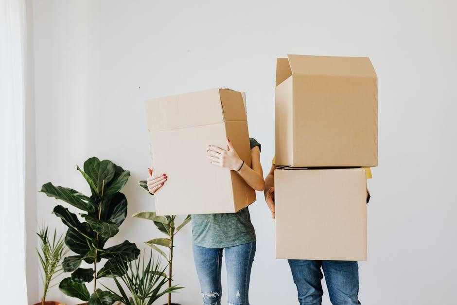 holding moving boxes