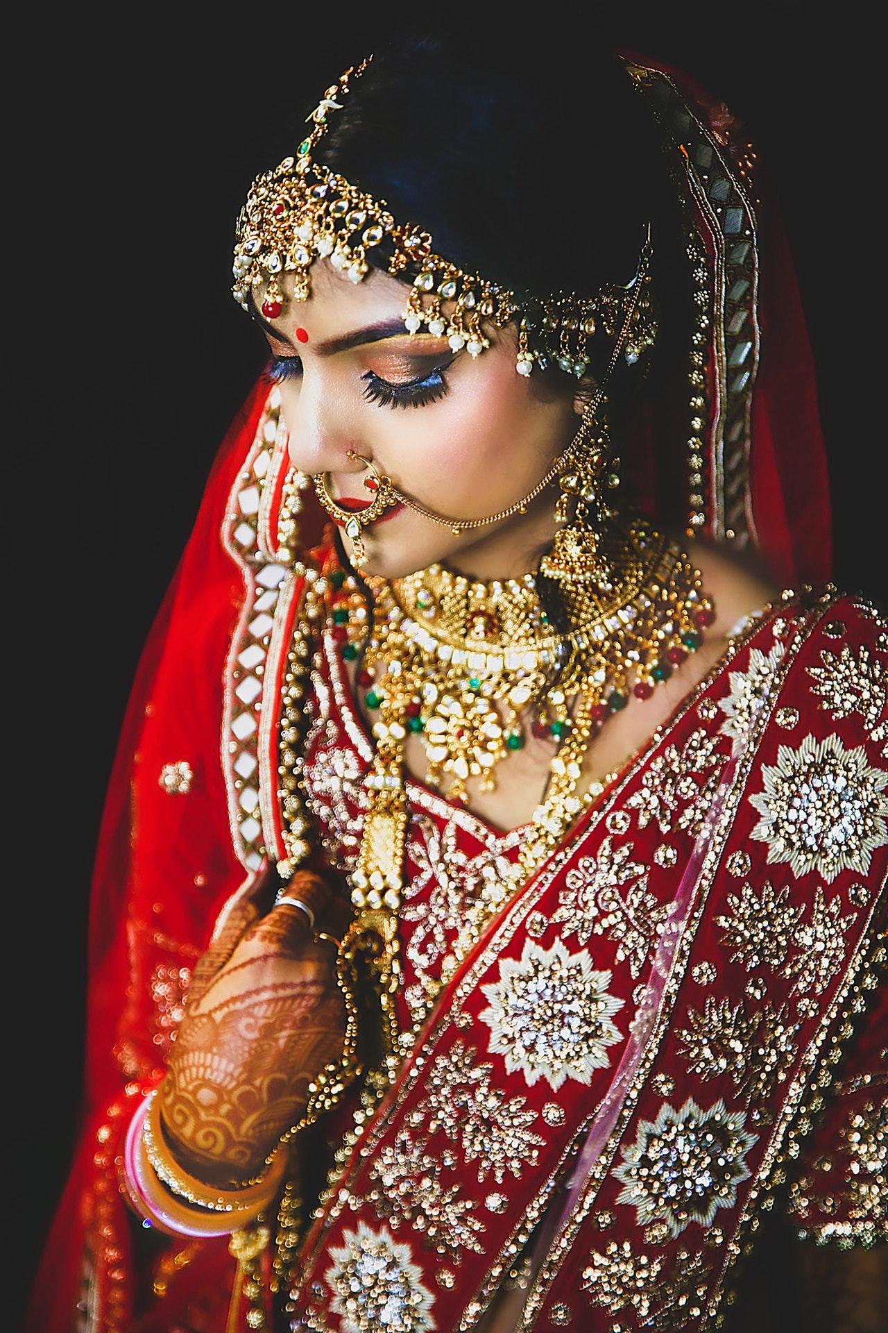portrait of bride in India