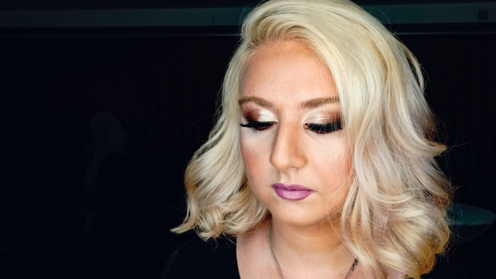 woman wearing makeup