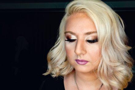 woman wearing makeup