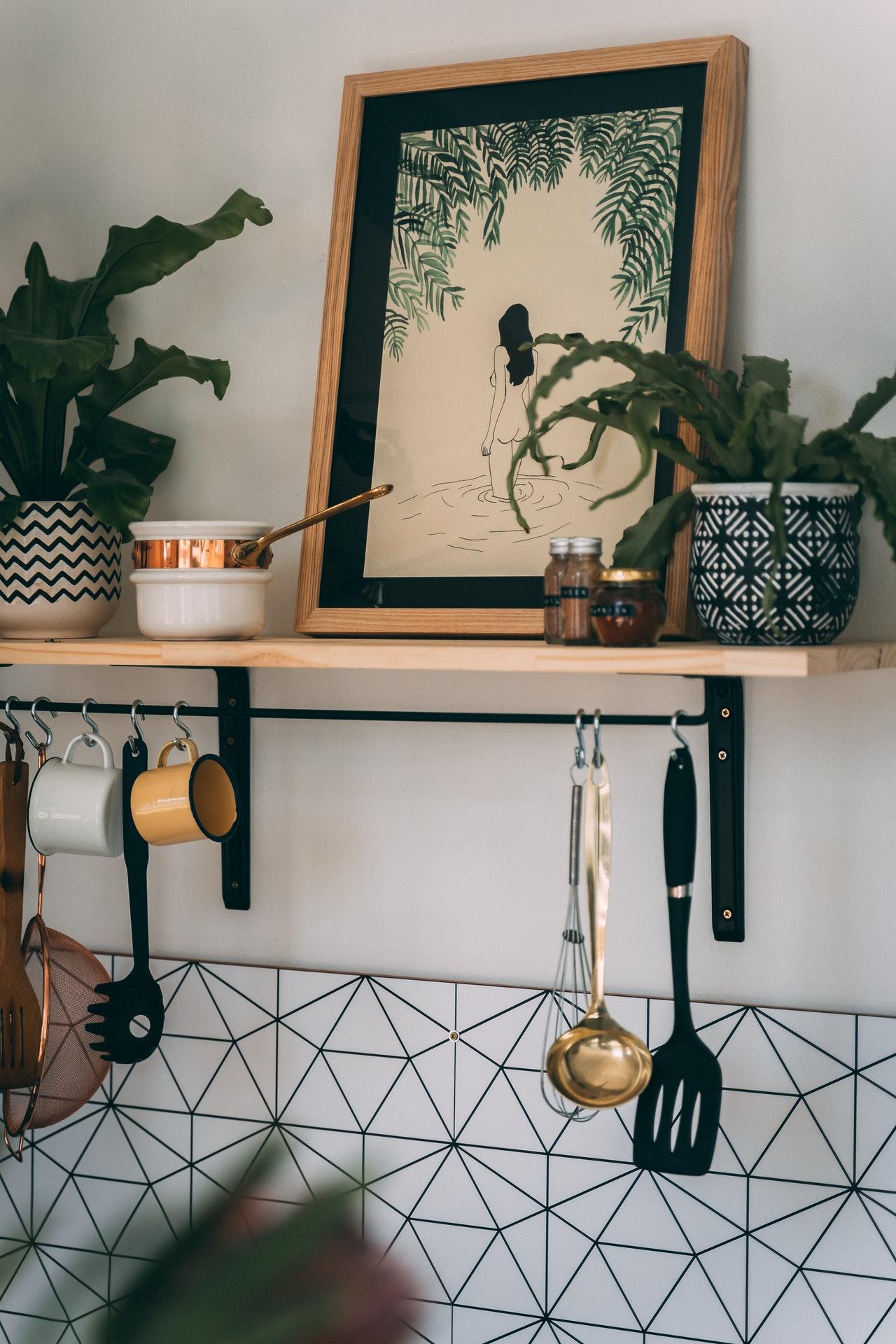 boho style kitchen decor