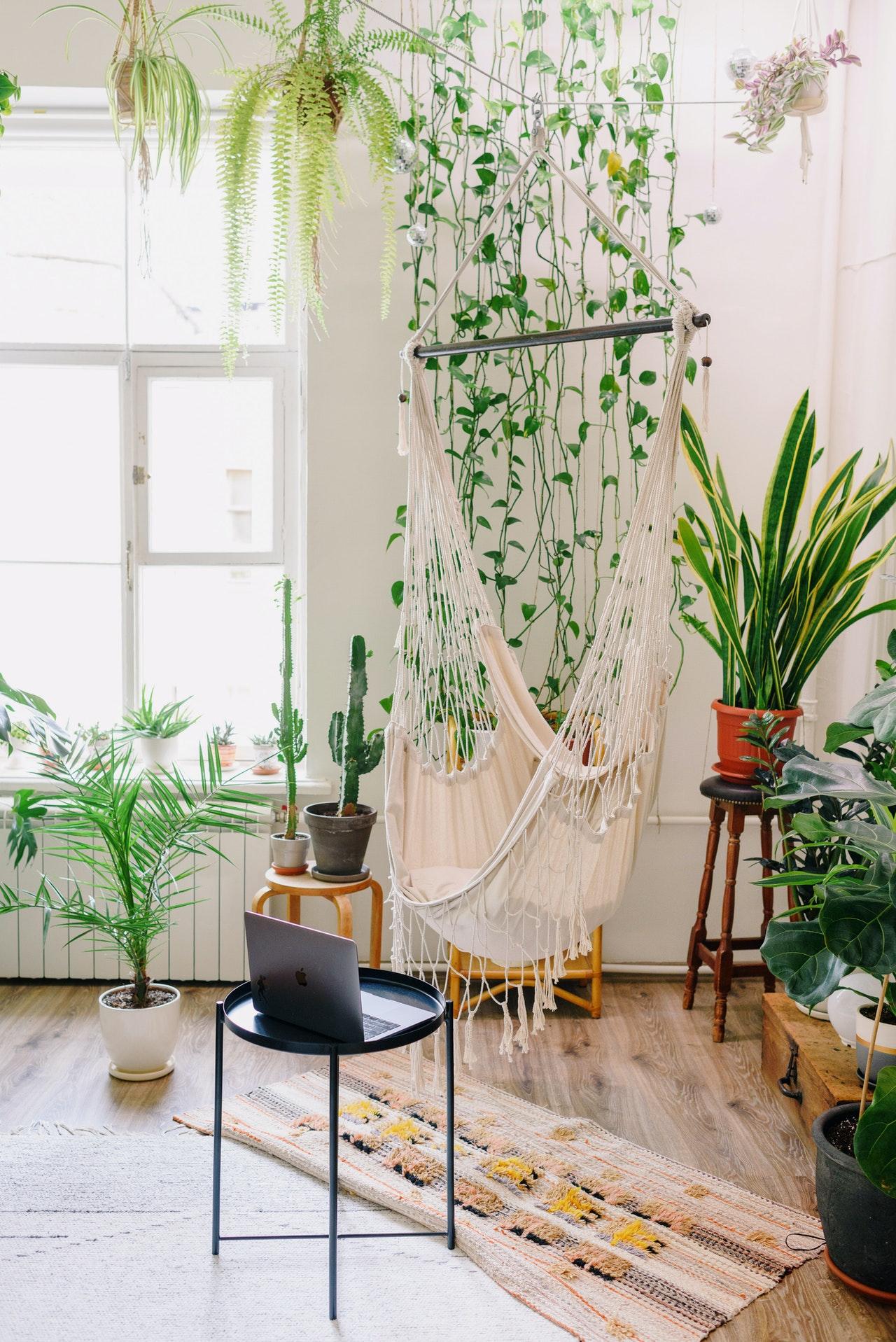 swing hanging indoors