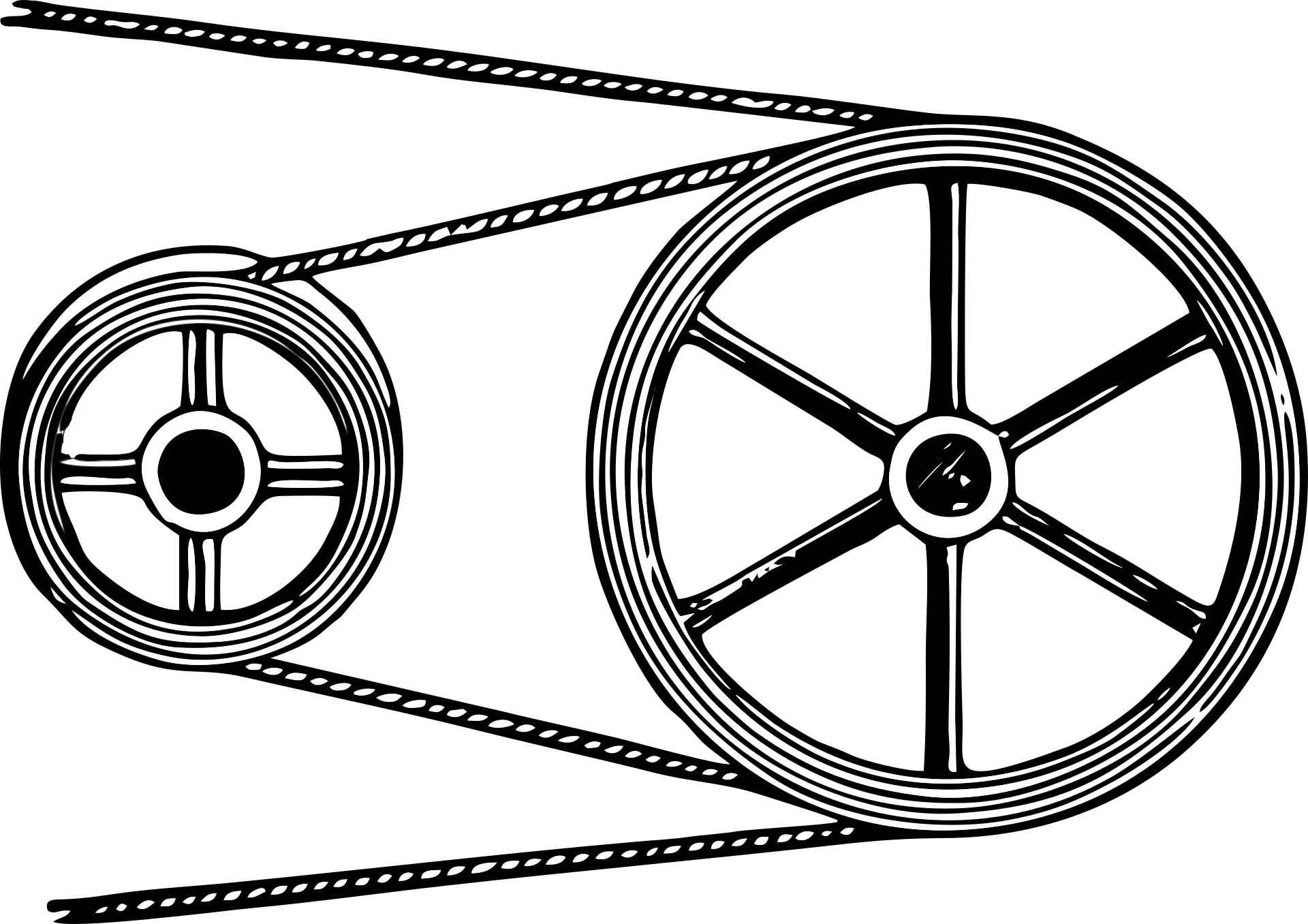 drawing of a pulley system