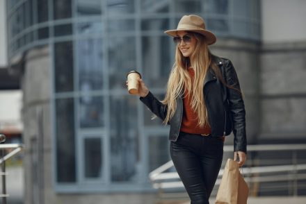 woman holding coffee