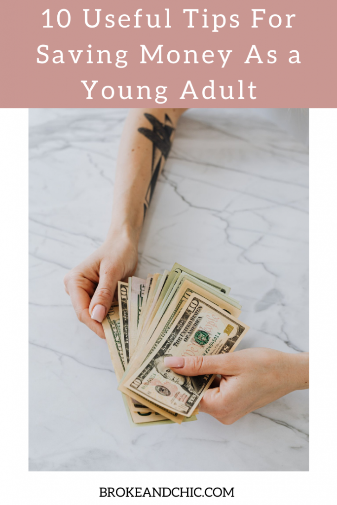 how to save money as a young adult
