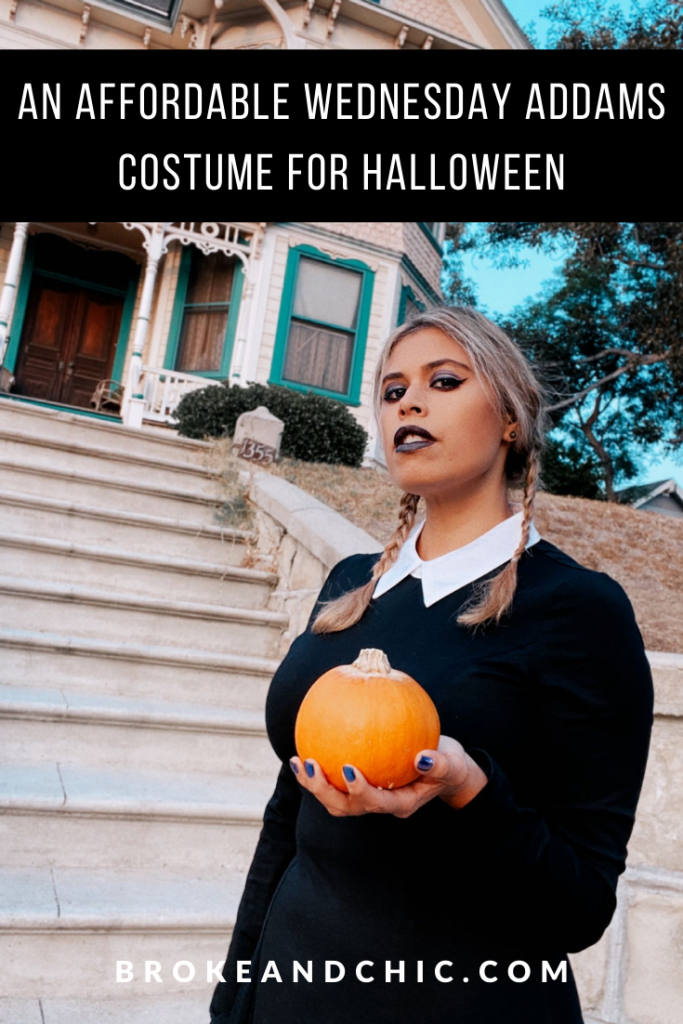 how to affordably be Wednesday Addams for Halloween.